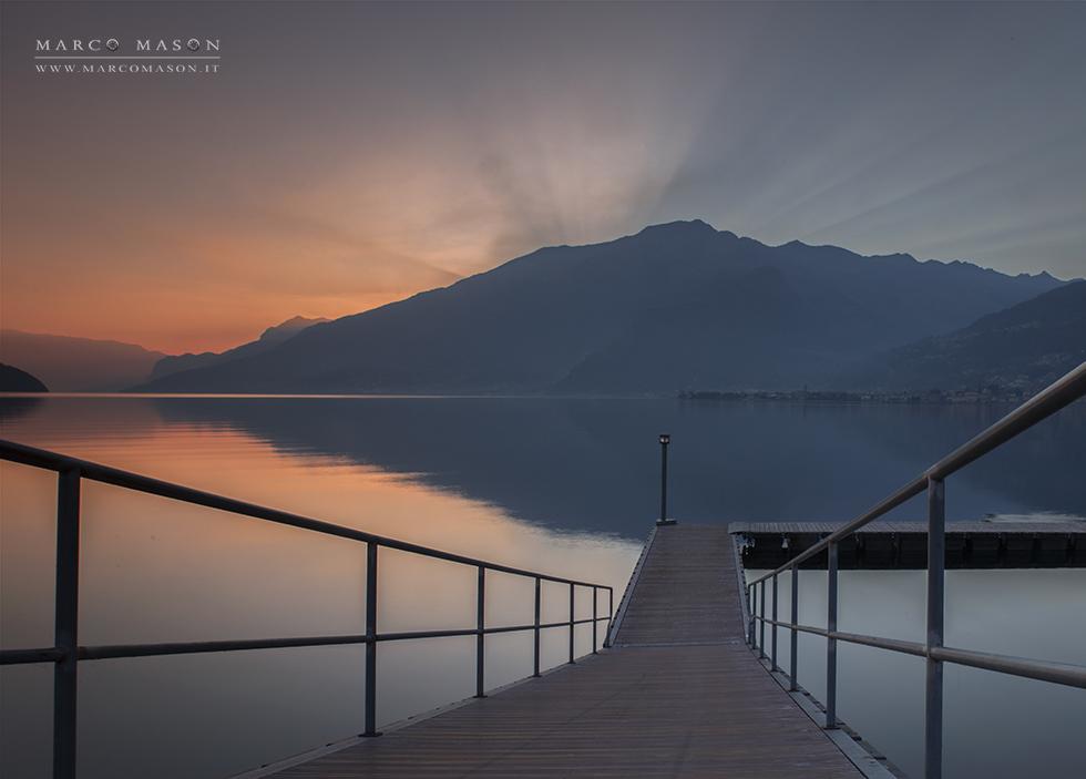Tramonto in alto lago