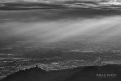 Castel Baradello e periferia di Como